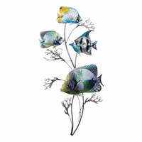 Tropical Jewels Fish Wall Art - Vertical