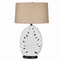 Tropical Leaf Table Lamp with Nightlight