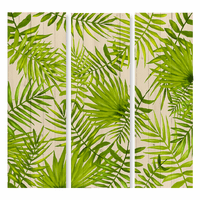 Tropical Leaves Triptych Wall Art (3 pcs)