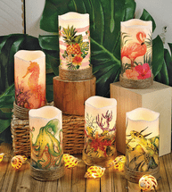 Tropical LED Candles