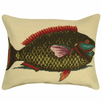Tropical Parrot Fish Pillow