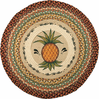 Tropical Pineapple Round Rug