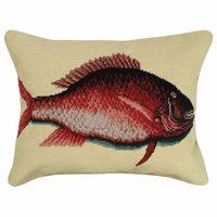 Tropical Porgy Fish Pillow
