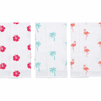 Tropical Print Flour Sack Towels - Set of 6