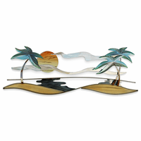 Tropical Shores 3-D Metal Wall Art