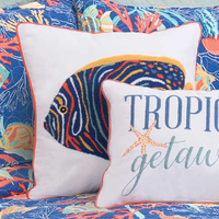 Tropical Water Angelfish Pillow