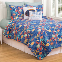 Tropical Water Quilt Bedding Collection