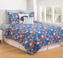 Tropical Water Quilt Set - King