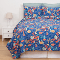Tropical Water Quilt Set - Twin