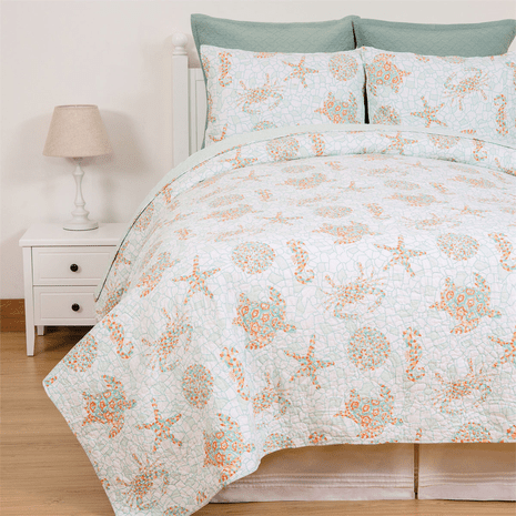 Turks & Caicos Quilt Set - Full/Queen