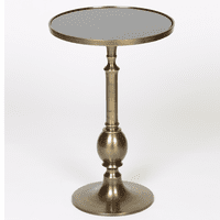 Turned Metal Egg Table - Brass