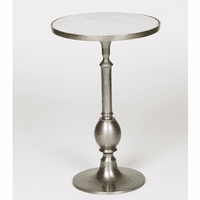Turned Metal Egg Table - Pewter
