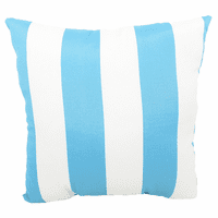 Turquoise and White Stripes Indoor/Outdoor Pillow