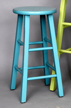 Turquoise Barstool - 24 Inch - OUT OF STOCK