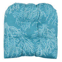 Turquoise Coral Indoor/Outdoor Chair Cushion