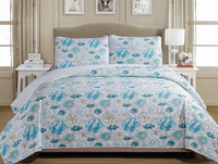 Turquoise Fish Life Quilt Bedding Collection