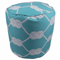 Turquoise Knot Indoor/Outdoor Round Pouf
