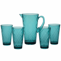 Turquoise Lattice Acrylic Glassware