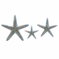 Turquoise Mosaic Starfish Wall Art - Set of 3 - CLEARANCE