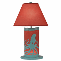 Turquoise Octopus Table Lamp with Nightlight
