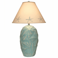 Turquoise Starfish Constellation Table Lamp