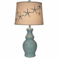 Turquoise Starfish Pot Table Lamp