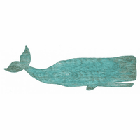 Turquoise Whale Wall Art