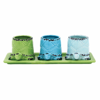 Turtle Babies Mini Planters with Tray - 4 pcs - CLEARANCE