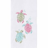 Turtle Bubbles Flour Sack Towels - Set of 6