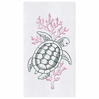 Turtle Flour Sack Kitchen Towels - Set of 12