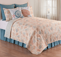 Turtle Reef Quilt Mini Set - Twin - OVERSTOCK