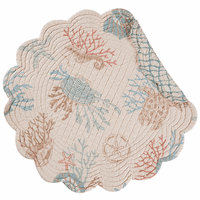 Turtle Reef Round Placemats - Set of 6