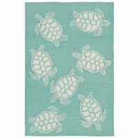 Turtle Time Blue Indoor/Outdoor Rug Collection