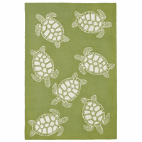 Turtle Time Moss Indoor/Outdoor Rug Collection