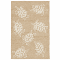Turtle Time Natural Indoor/Outdoor Rug Collection