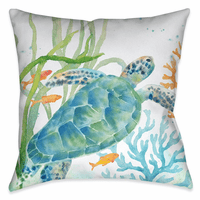 Turtle Tread 18 x 18 Outdoor Pillow
