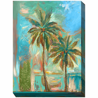 Twin Palms I Outdoor Canvas Art