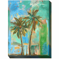 Twin Palms II  Outdoor Canvas Art