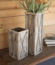 Twisted Rope Planters - Set of 2