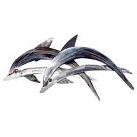 Two Blue Dolphins Wall Art
