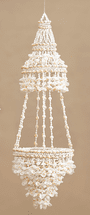 Two-Tiered Seashells Hanging Canopy