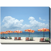 Umbrella Coast Indoor/Outdoor Canvas Art