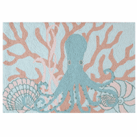 Undersea Octopus Washable Accent Rug