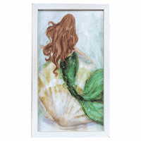 Underwater Mermaid Wood Wall Art