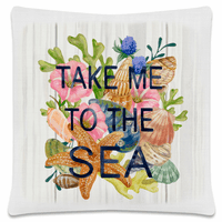 Unwind Take Me to the Sea Pillow