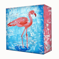 Upright Flamingo Aluminum Wall Art
