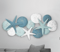 Urchins & Starfish Metal Wall Hanging