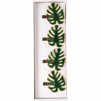 Verdant Fronds Napkin Rings - Set of 4