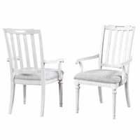 Vermont Slat Back Arm Chairs - Set of 2