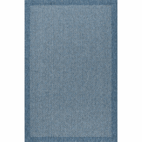 Versatile Modern Denim Blue Indoor/Outdoor Rug Collection
